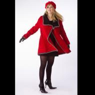 Norah Curtis: Red Long Swing Jacket