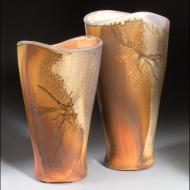 C Gallagher: Two Vases; Mantis and Dragonfly