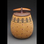 Larry Richmond: Stoneware woven basket