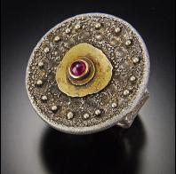 Tai Vautier: reticulated ruby ring