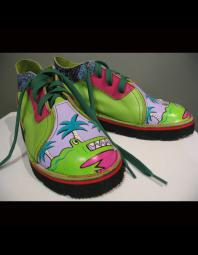 Mark Carter: Lime green alligator lowtops