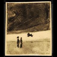 Annie Meyer: poodle on beach tile
