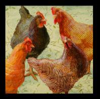 Ann Munson: Four Hens