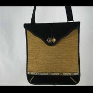 Janet Chico: Bronze Chenille Messenger Bag