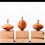 Joseph Graci: twig pots and cube shelves