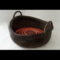 Peeta Tinay: Roped Handle Basket with Low Curve