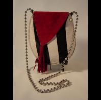 Carol Risley: zebra red suede baglet