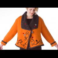 Norah Curtis: Pumpkin Short Swing Needle-felted Jacket