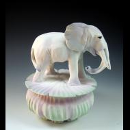 Nancy Adams: White Spirit Elephant Box
