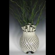 Erin Pietsch: crackle tubes vase