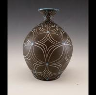 Matt Conlon: Bottle with Complex Flower Pattern