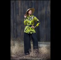 Marla Duran: Silk charmeuse tunic shirt